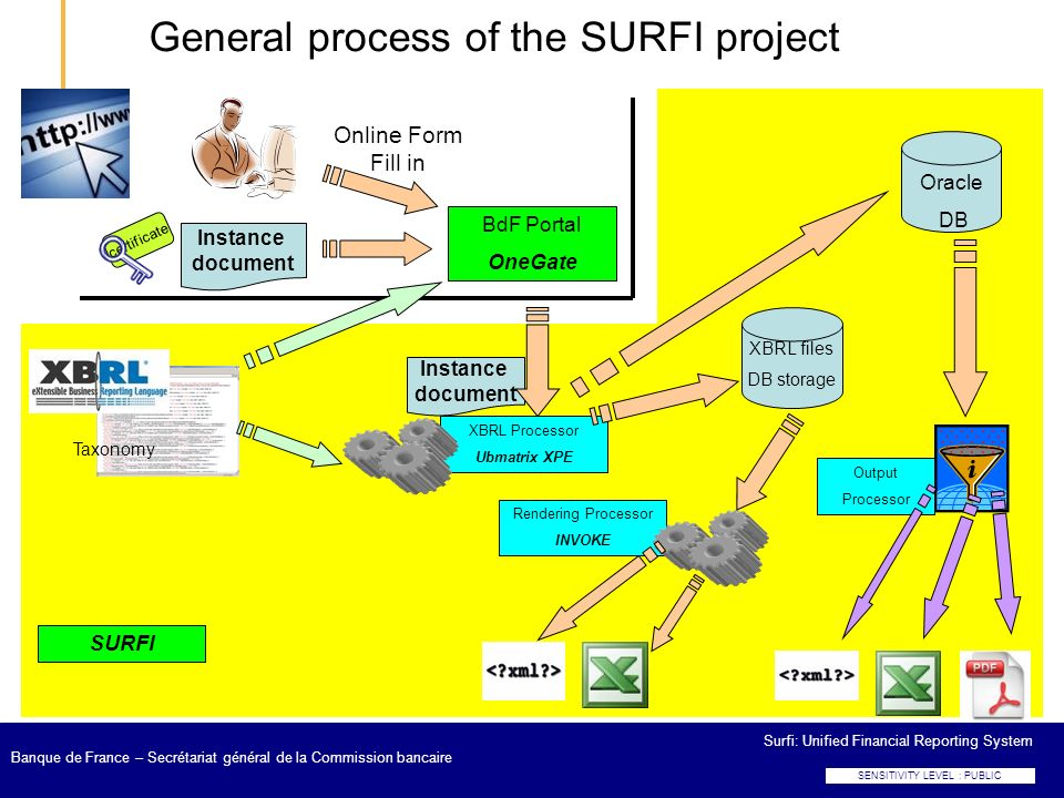 General process of the SURFI project
