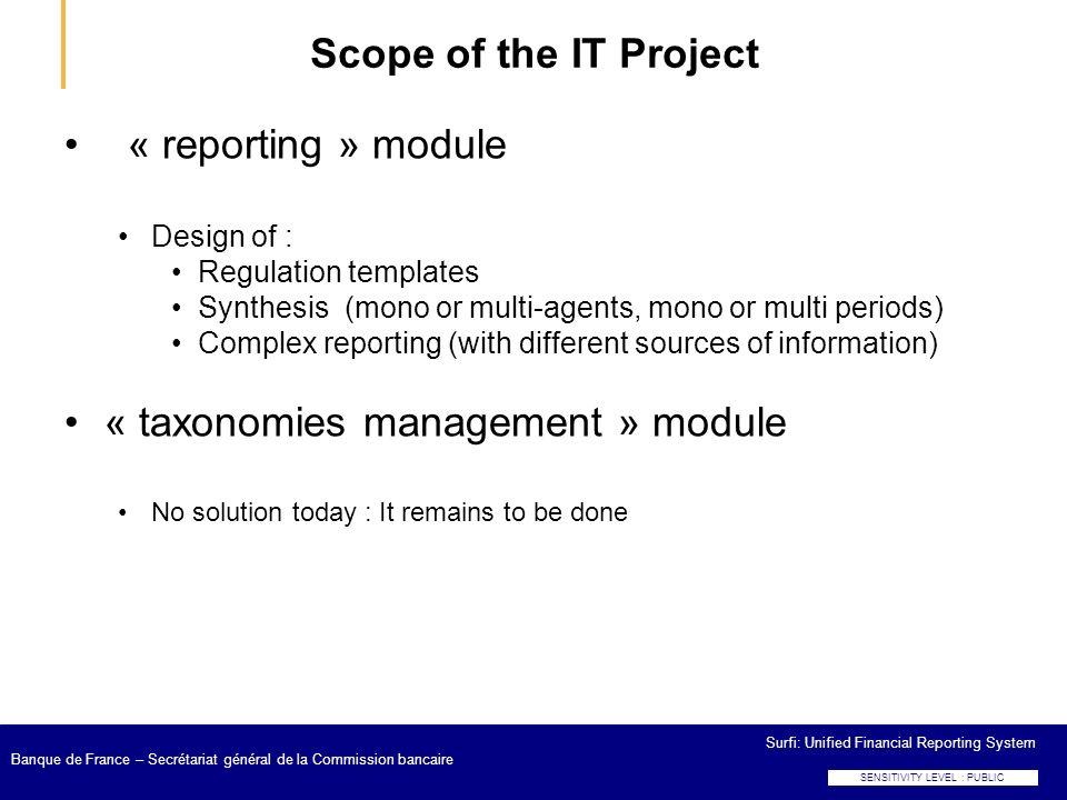 « taxonomies management » module