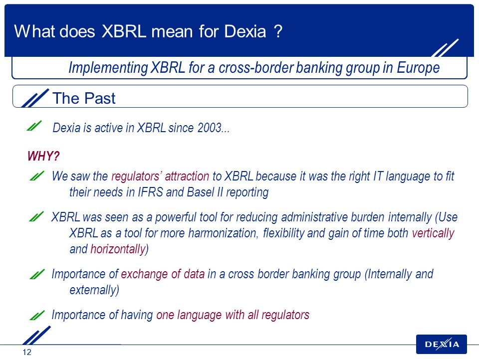 What does XBRL mean for Dexia