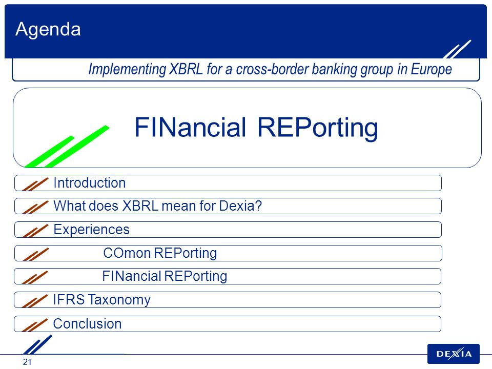 FINancial REPorting Agenda