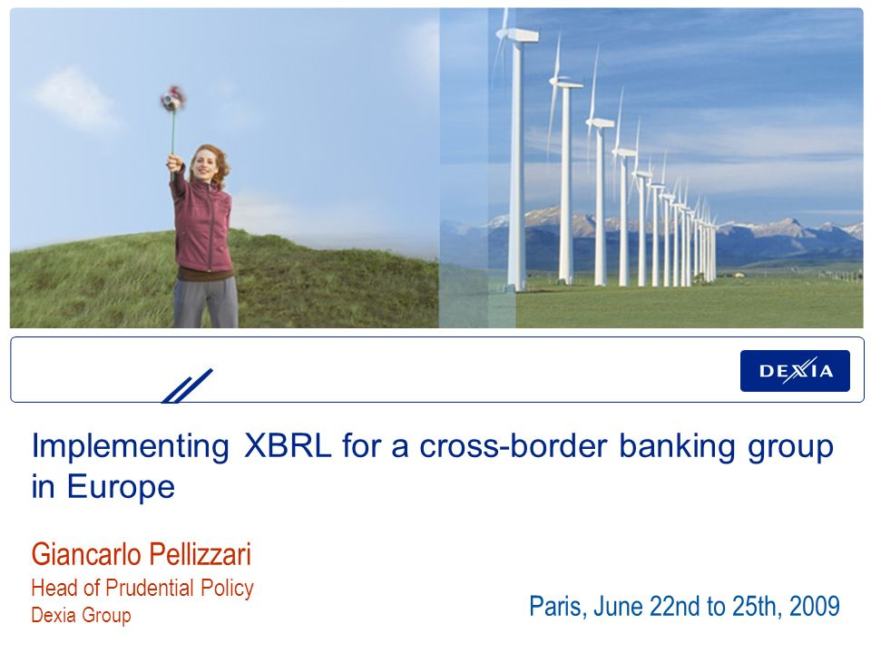 Implementing XBRL for a cross-border banking group in Europe