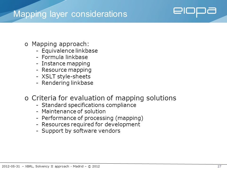 Mapping layer considerations