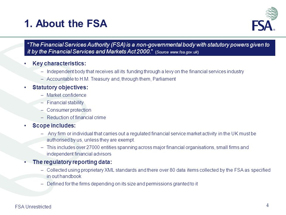 1. About the FSA