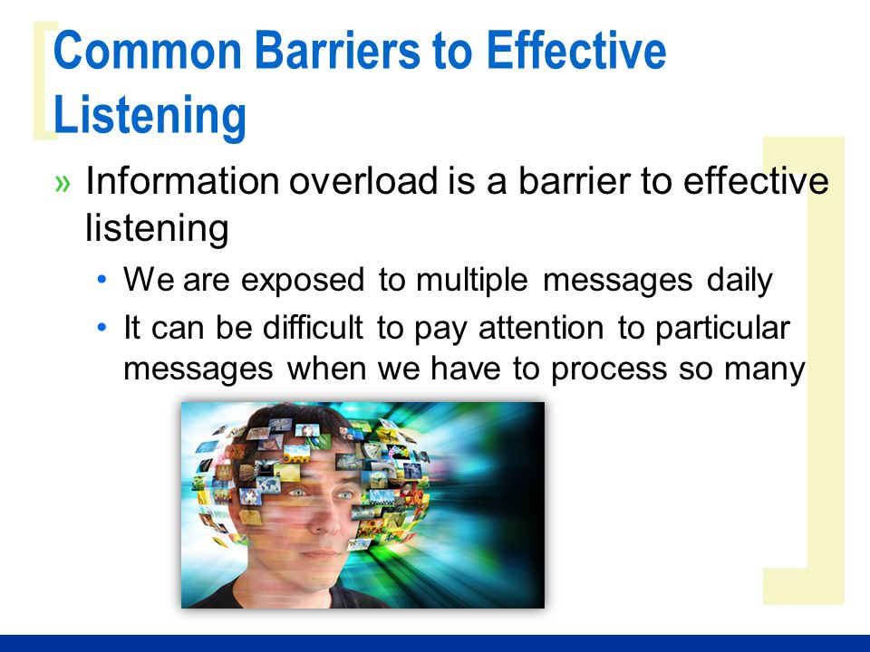 report on barriers to good listening Active listening is a key skill to improve communication learn how to over come common barriers to active listening in the workplace.