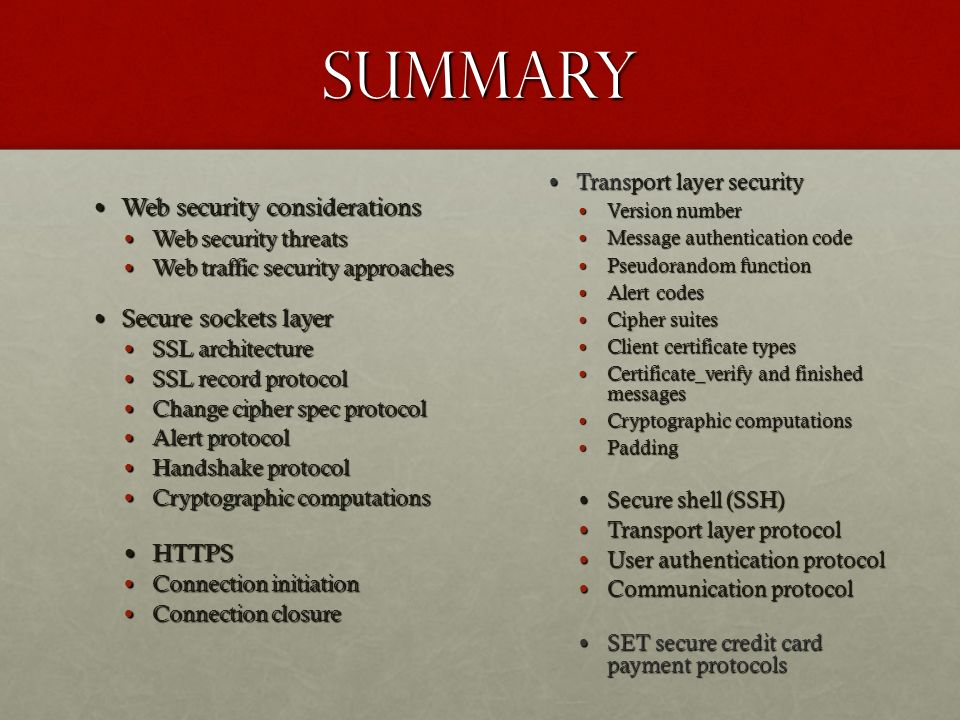 csc 8222 network security web and transport