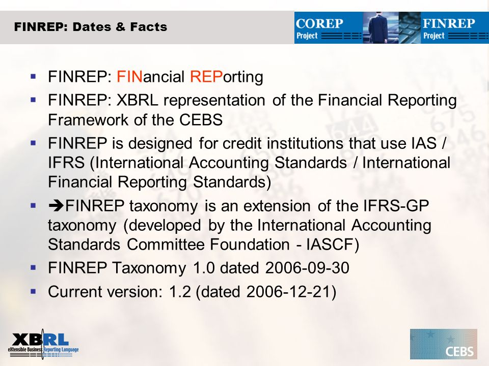 FINREP: FINancial REPorting