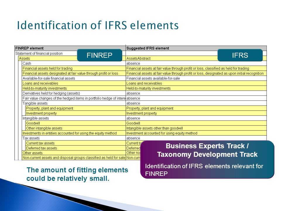 Identification of IFRS elements