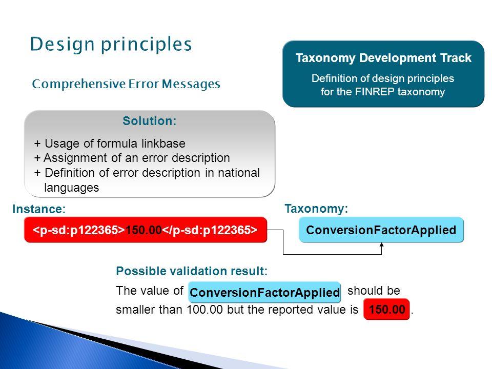 Design principles Taxonomy Development Track