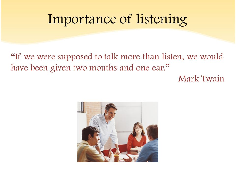 importance of listening in communication pdf