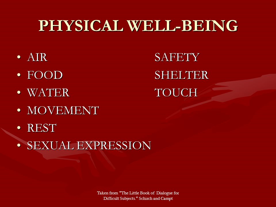 physical well being