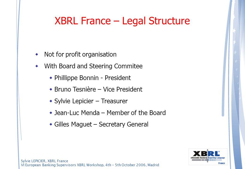 XBRL France – Legal Structure