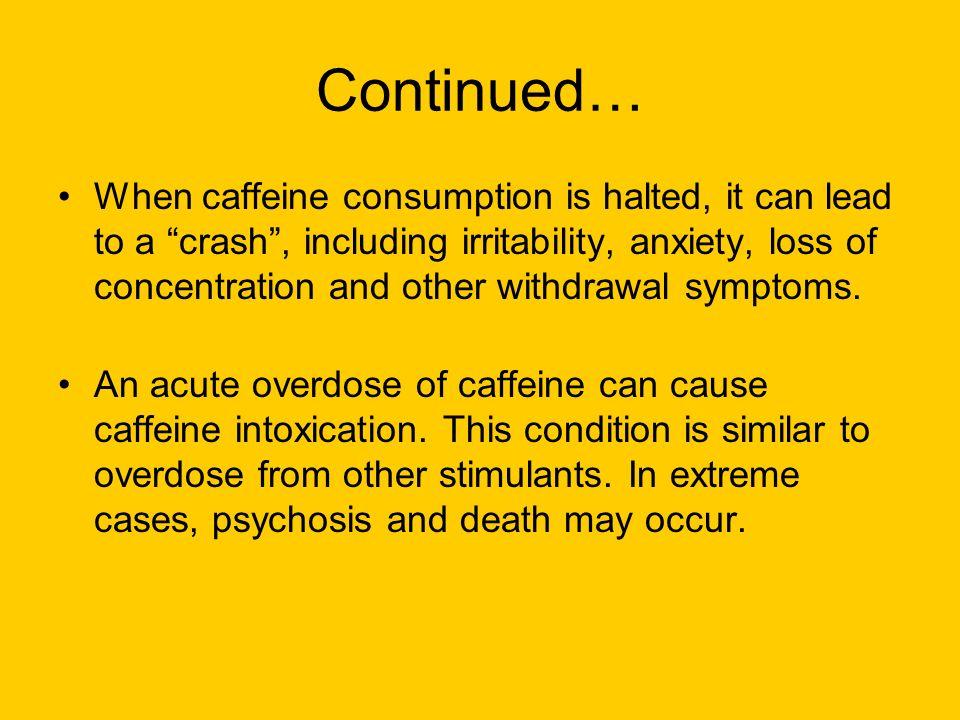 how to stop a caffeine crash