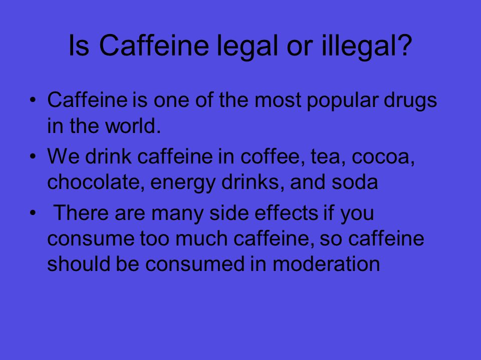 Too much caffeine in soda