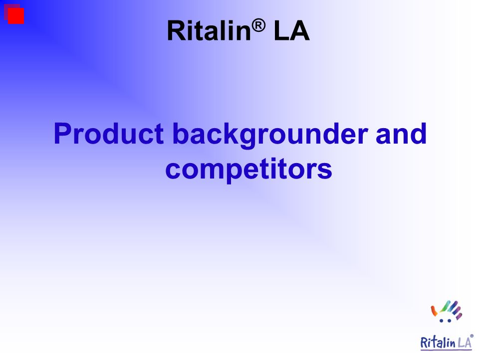 Product backgrounder and competitors