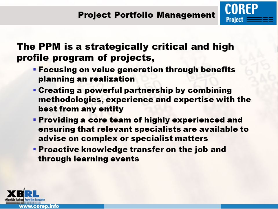 Project Portfolio Management
