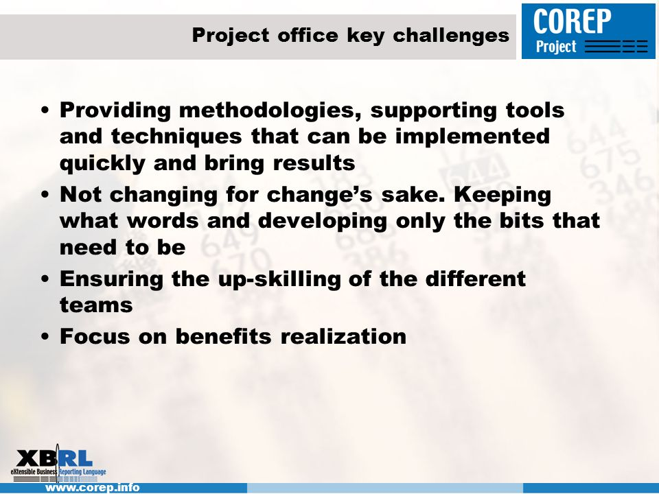 Project office key challenges
