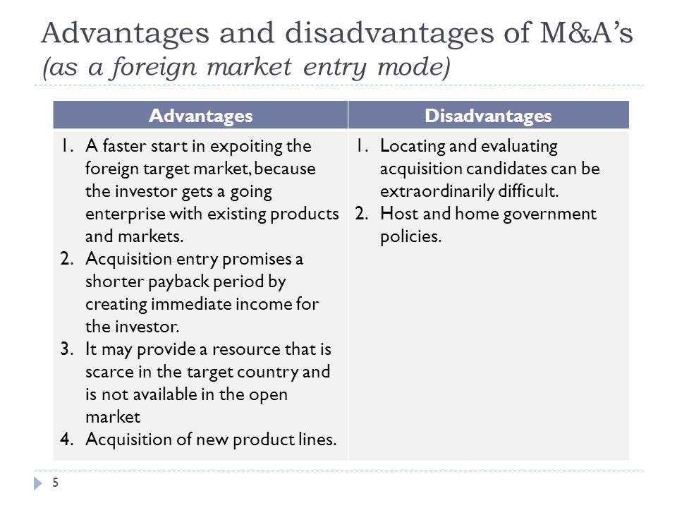 advantages and disadvantages of merger Benefits of mergers and acquisitions - read here about the advantages of mergers and acquisitions with employee benefits of m&a.