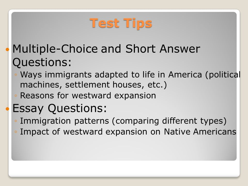 westward expansion essay questions