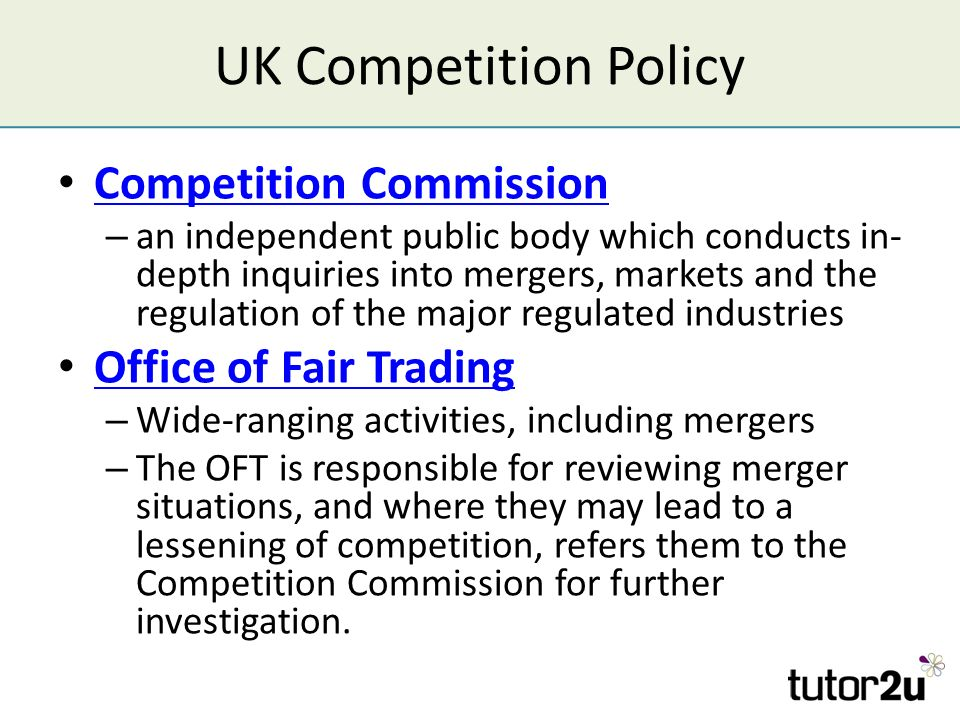 study conducted by fair trading commission See joint report of the office of fair trading,  was conducted by the federal trade commission in  as a follow-up to the study, the commission has already.