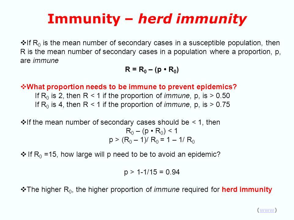 Immunity – herd immunity