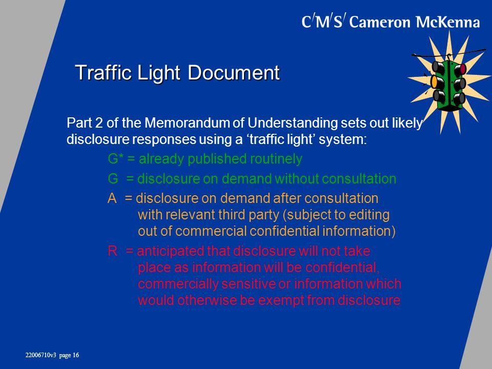 Traffic Light Document