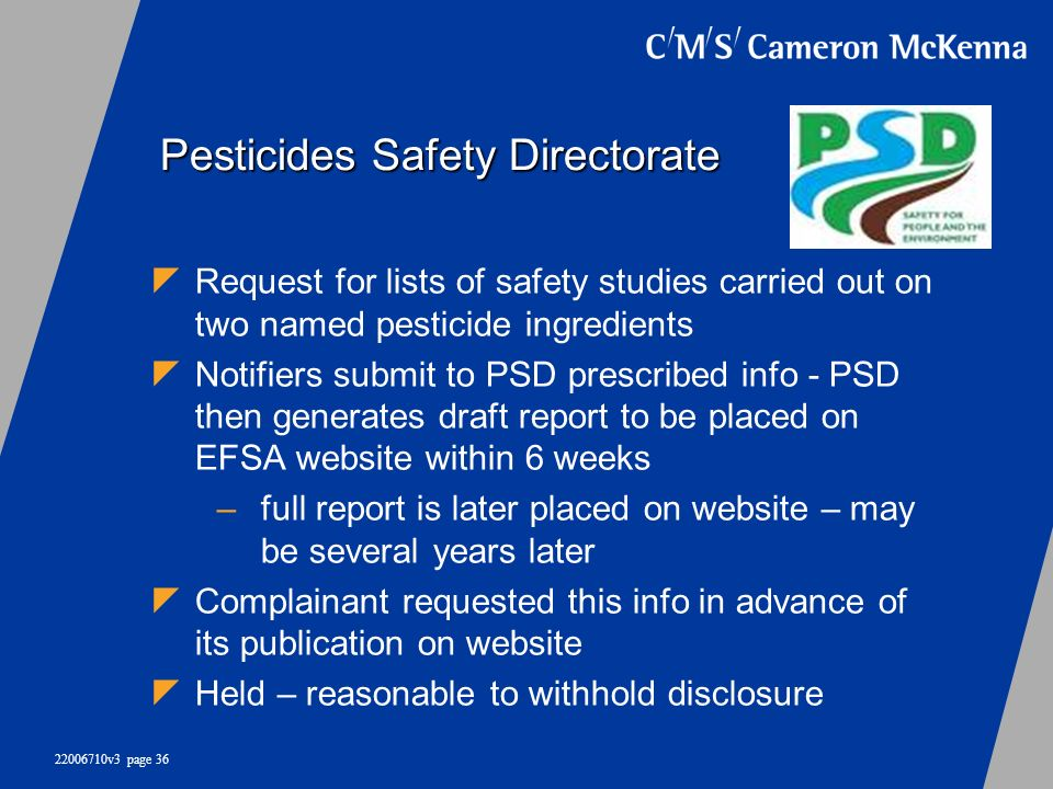 Pesticides Safety Directorate