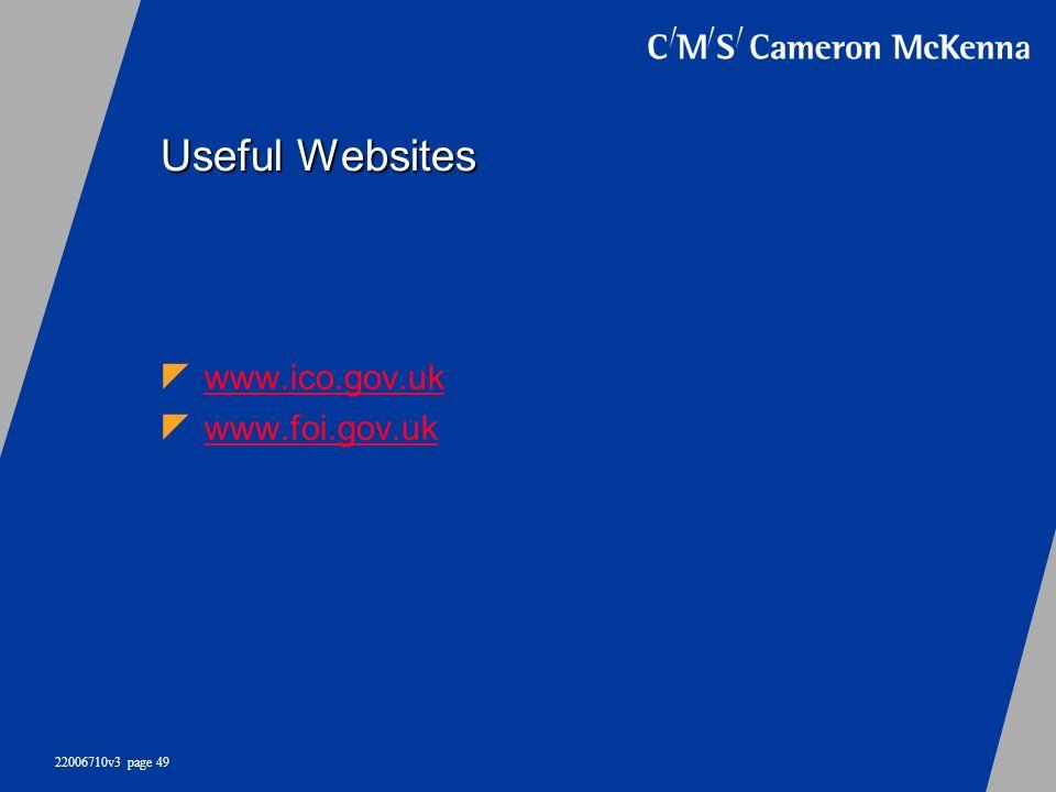 Useful Websites www.ico.gov.uk www.foi.gov.uk