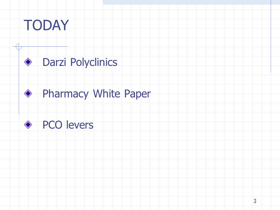 TODAY Darzi Polyclinics Pharmacy White Paper PCO levers