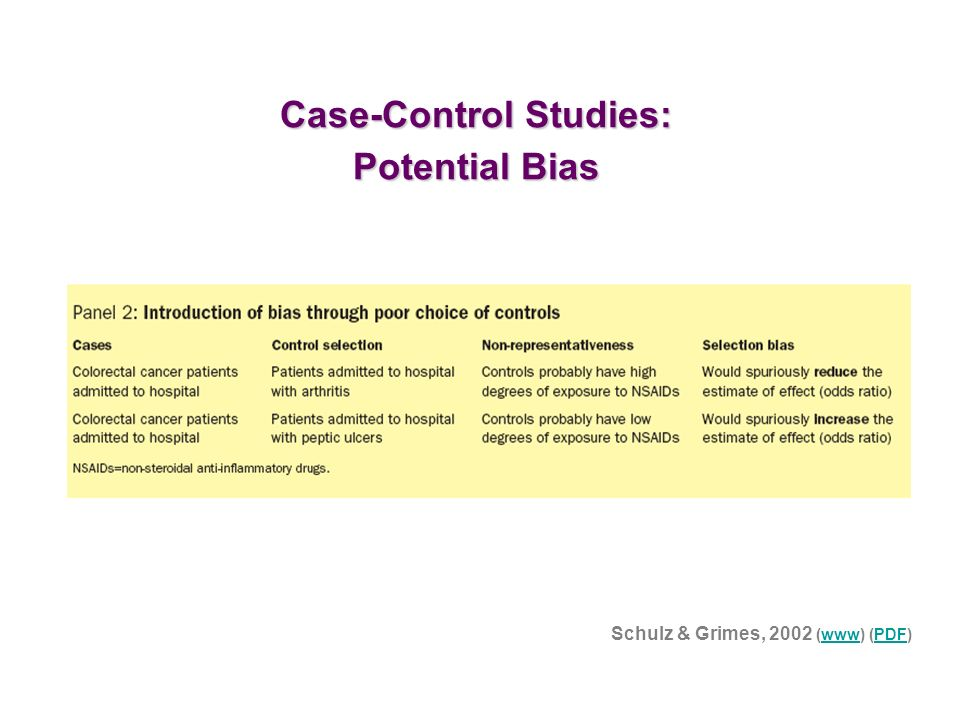 volunteer bias case control study Bias in case control study ppt  hospital volunteer application essay population based case control studies: the study base is the collection of subjects neyman s.