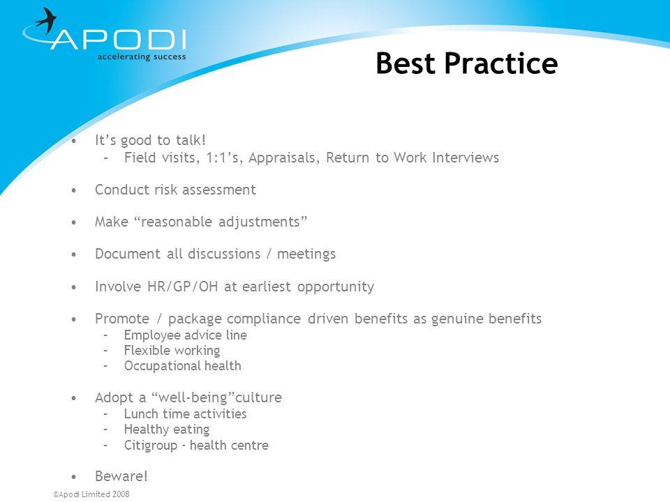 Best Practice It's good to talk!