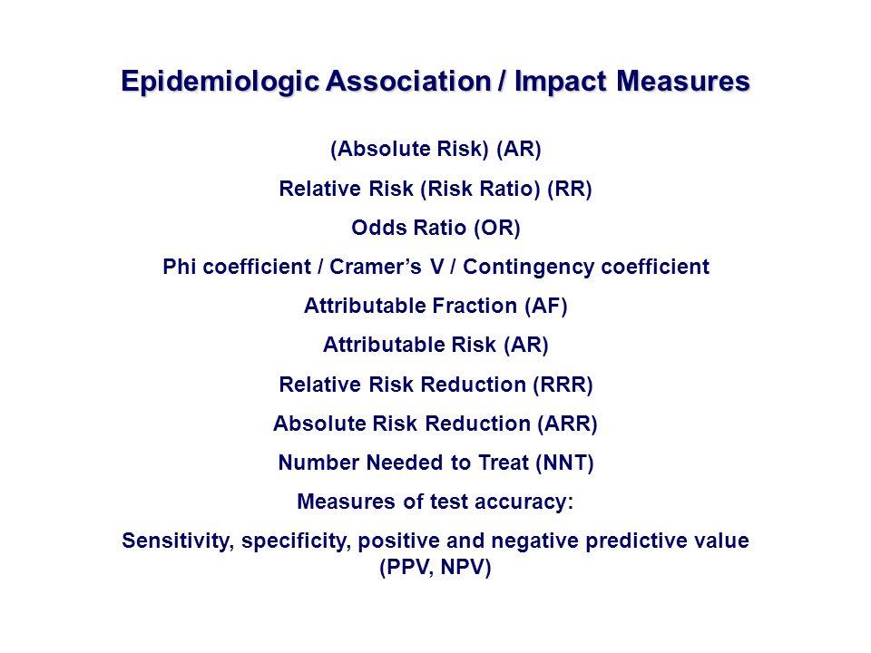 Epidemiologic Association / Impact Measures