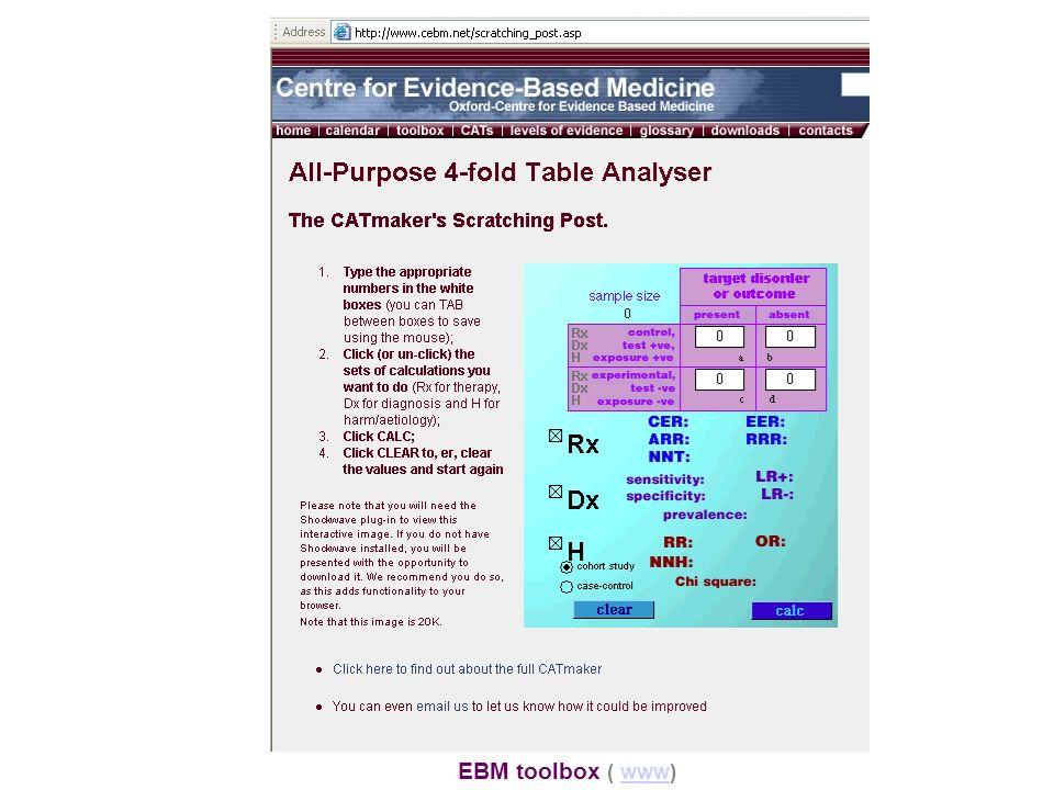 EBM toolbox ( www)