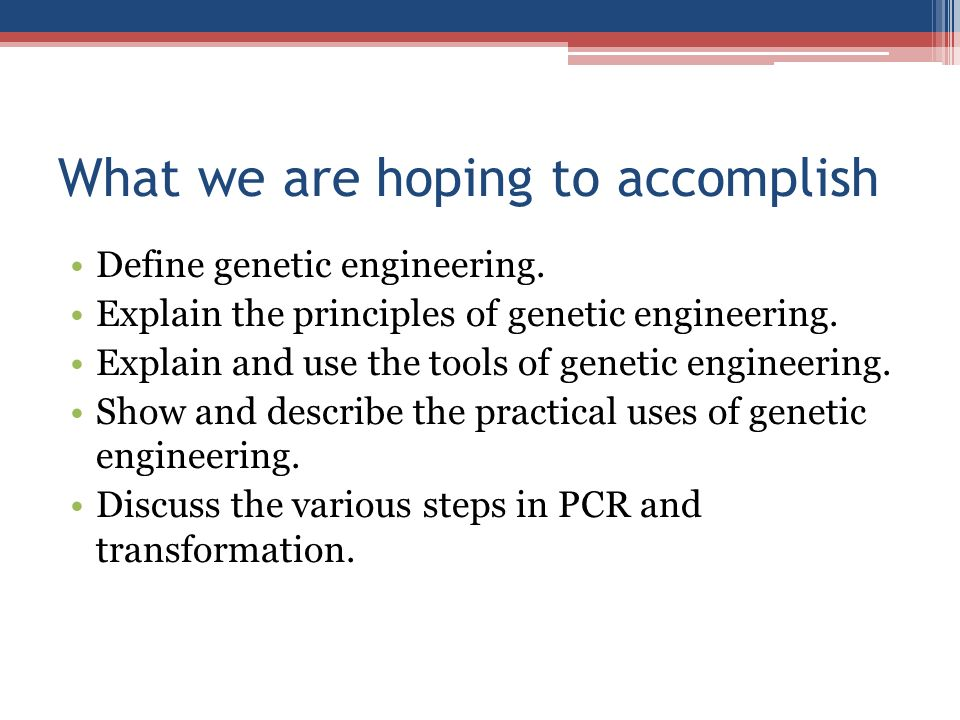 definiton of genetic engineering and history