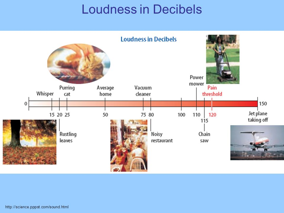 Loudness in Decibels http://science.pppst.com/sound.html