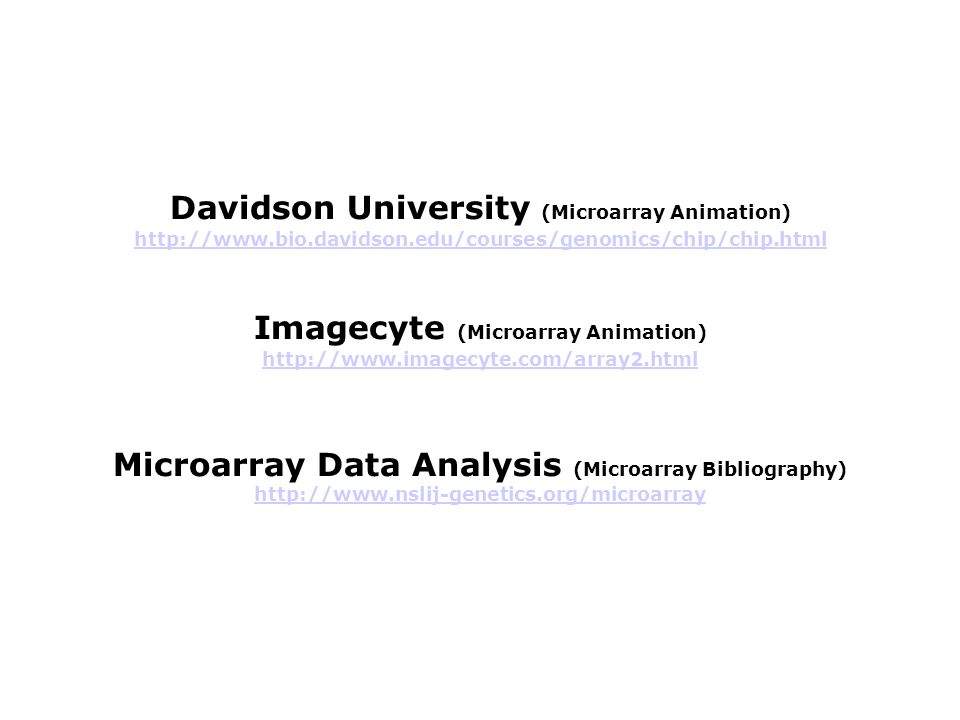 Davidson University (Microarray Animation)
