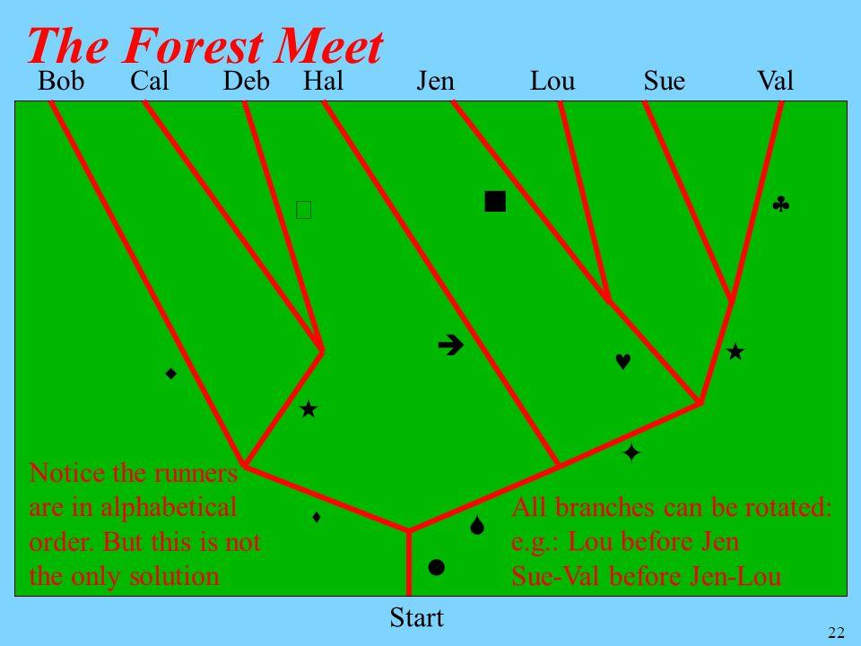 The Forest Meet Bob Cal Deb Hal Jen Lou Sue Val         