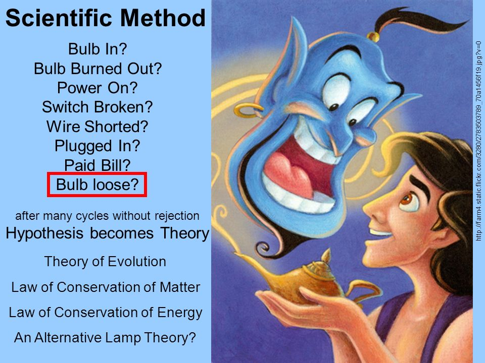 Scientific Method Bulb In Bulb Burned Out Power On Switch Broken