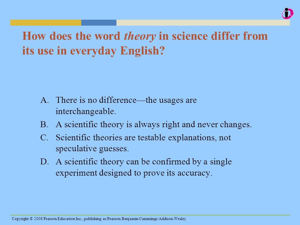 How does the word theory in science differ from its use in everyday English
