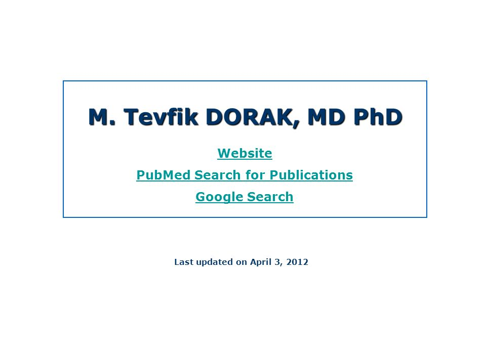 PubMed Search for Publications