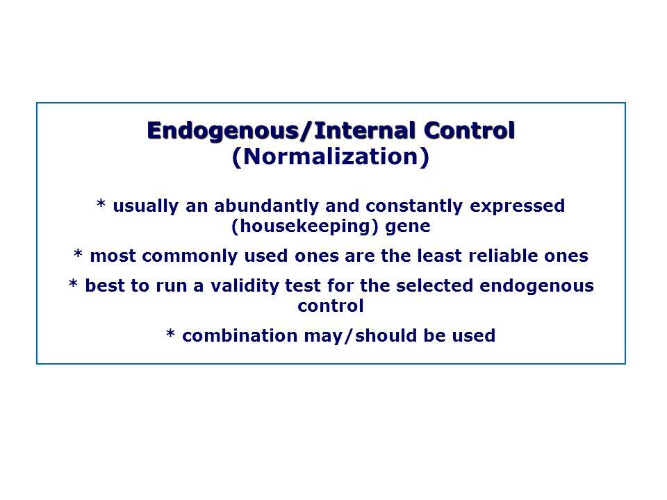 Endogenous/Internal Control (Normalization)