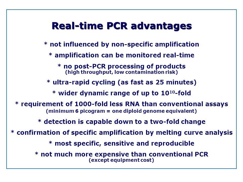 Real-time PCR advantages
