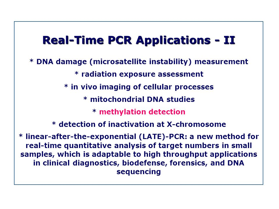 Real-Time PCR Applications - II