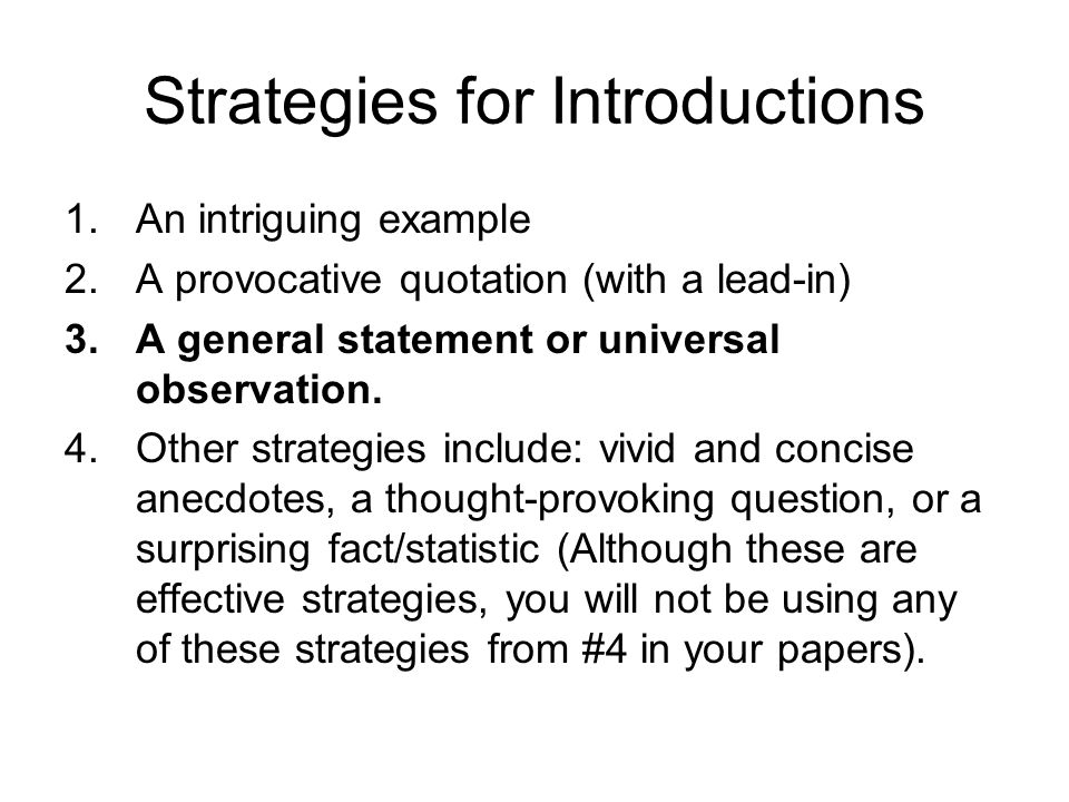 structure of an essay ppt video online  5 strategies for introductions