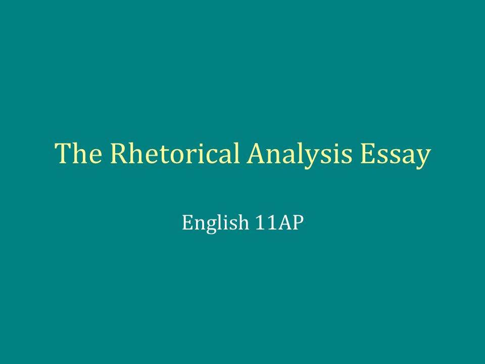 Type my esl rhetorical analysis essay on lincoln