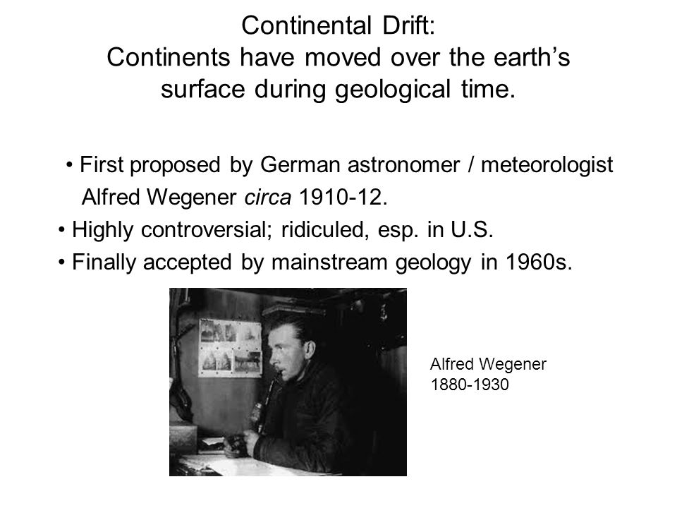 First proposed by German astronomer / meteorologist