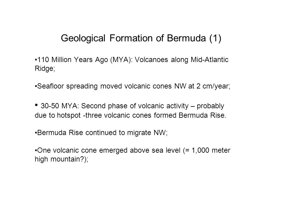 Geological Formation of Bermuda (1)