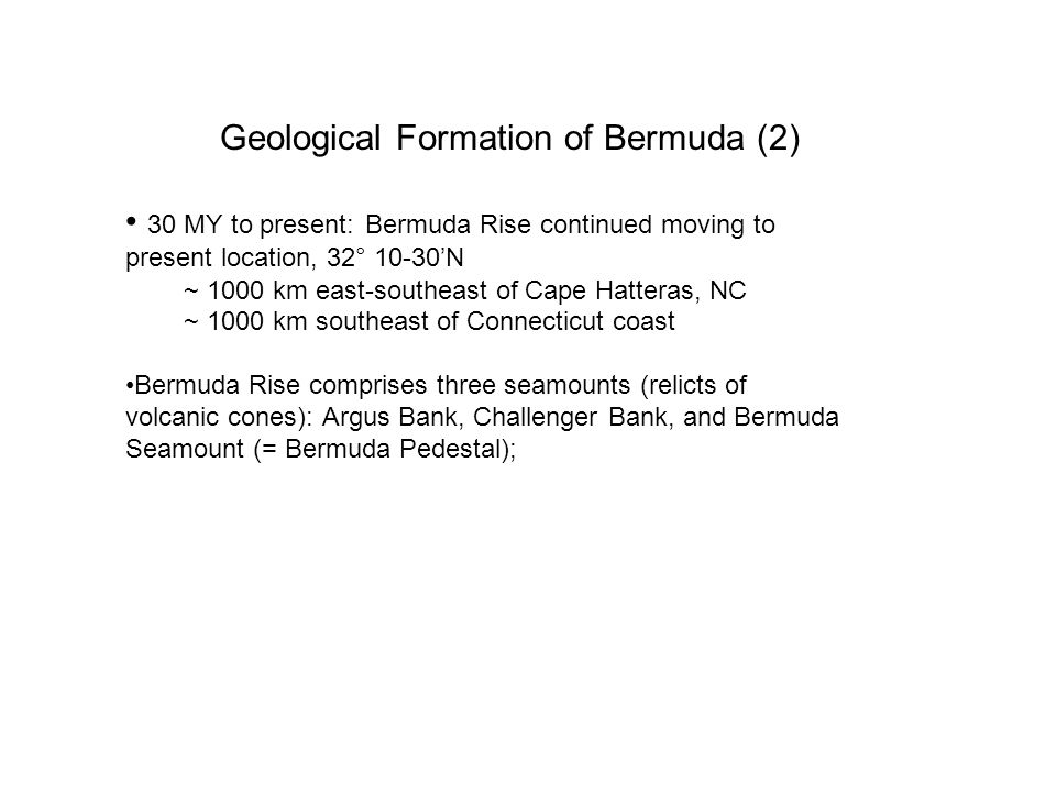 Geological Formation of Bermuda (2)