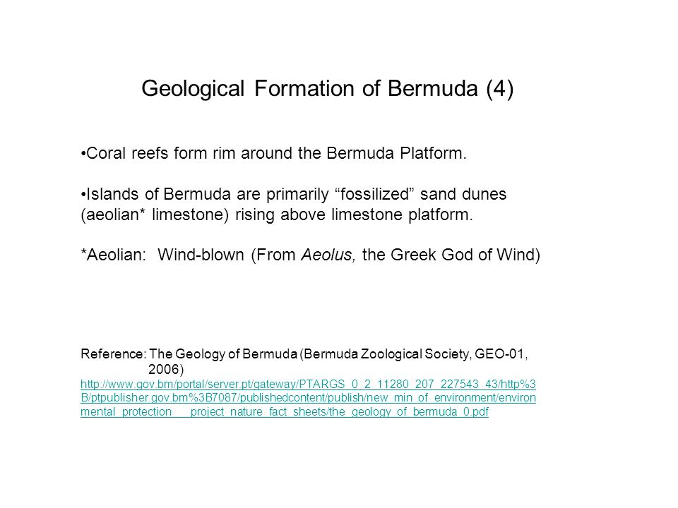 Geological Formation of Bermuda (4)