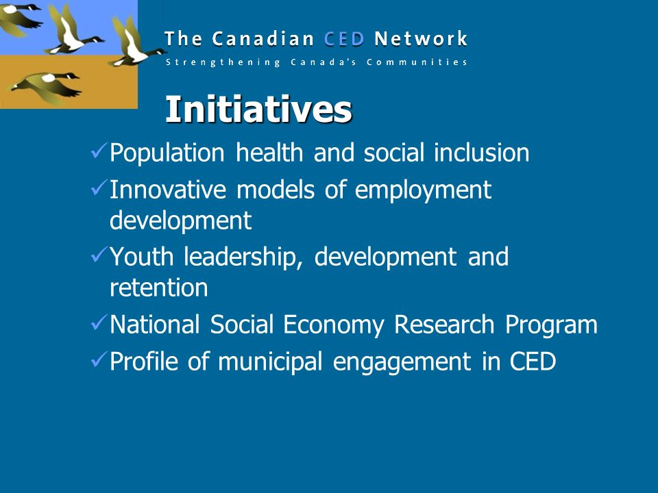 Initiatives Population health and social inclusion