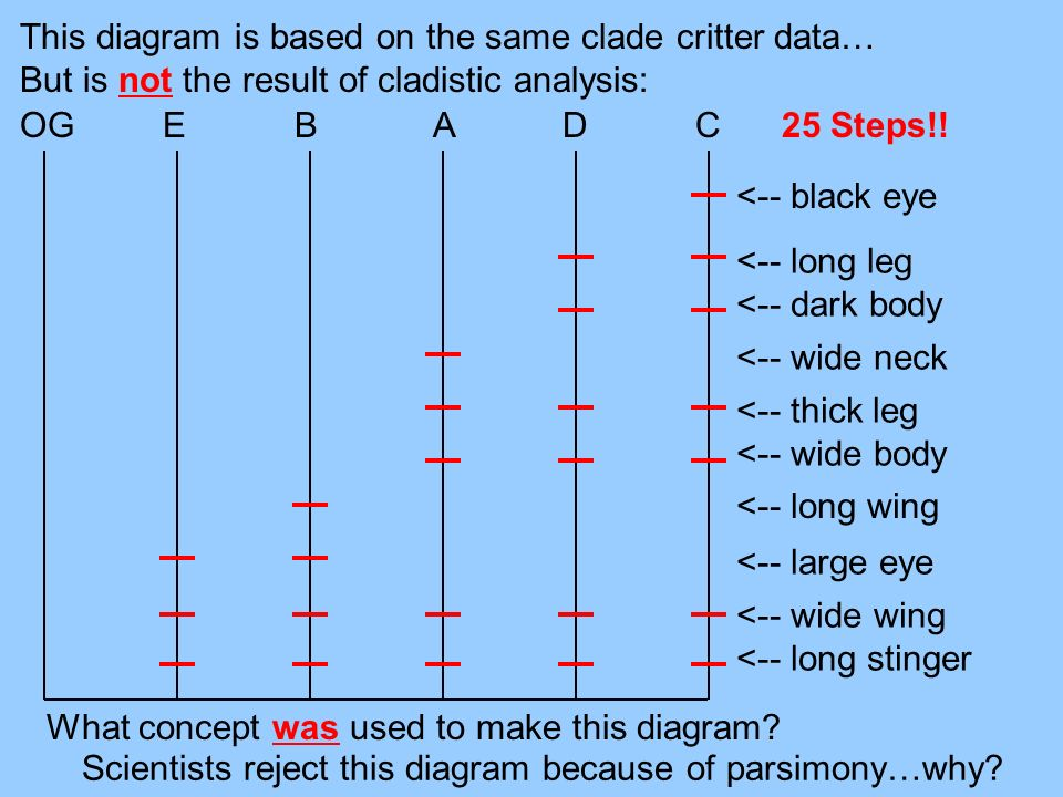 This diagram is based on the same clade critter data…